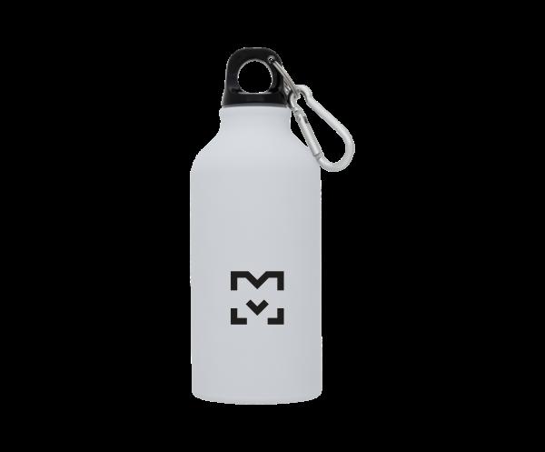 400 ml Trinkflasche matt mit Karabiner