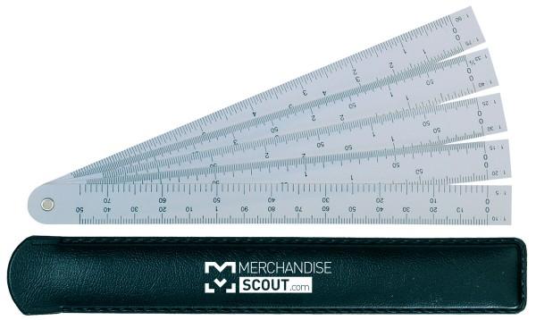 Fächer-Reduktionslineal, 15 cm